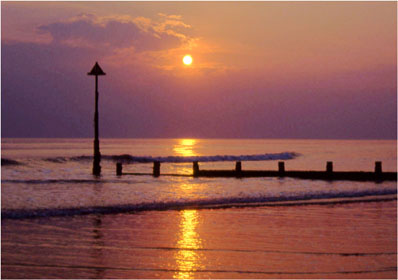 Sunset at Tywyn photographed by Andrew McCartney.