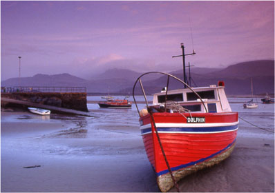 Boat at Barmouth Harbour by Andrew McCartney.